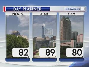 Weather planner for Sunday, June 16, 2013