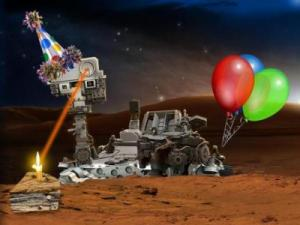 The birthday rover Credit: NASA/JPL