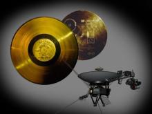 A golden record containing images, music and greetings from Earth was included on the Voyager 1 and 2 spacecraft
