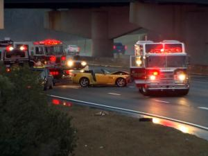 Emergency crews respond to a crash on Interstate 540 on Dec. 26, 2013.