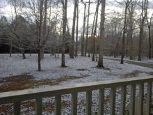 See viewer photos of snow flurries that fell in parts of the Triangle on Wednesday, Jan. 15, and Thursday, Jan. 16, 2014.