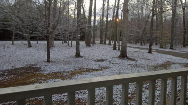 Snow in Efland, N.C., on Jan. 16, 2014.