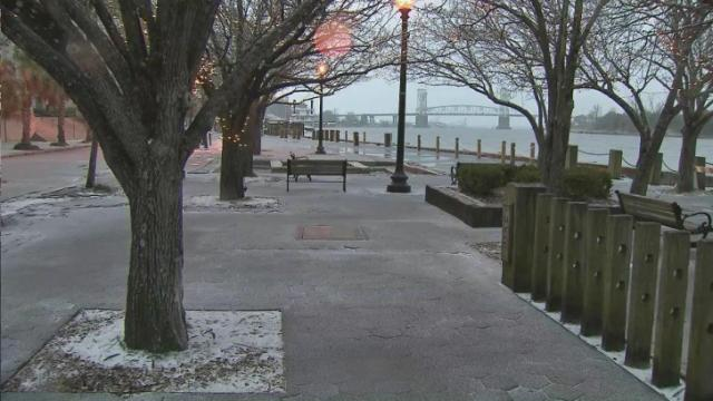 Wilmington sees rare snowfall