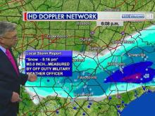 WRAL Chief Meteorologist Greg Fishel shows where snow fell on Tuesday