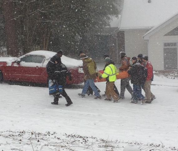 NC residents help sick patient during snowstorm