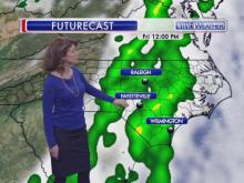 Less than a week after snow and ice fell across all of central North Carolina, a powerful cold front could produce strong to severe thunderstorms on Friday as it races through the state.