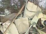 Tornado damage in Robeson County