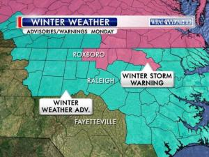 Winter weather advisories and alerts for North Carolina as of Sunday, March 2, 2014.