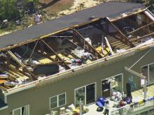Sky 5: Tornado damage in Beaufort County