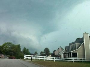 Dana sent this image of storm clouds in Fayetteville Monday, April 28, 2014.