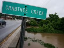 Flooding at Crabtree Creek in Raleigh