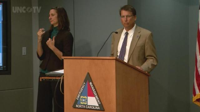 Gov. McCrory updates NC preparations for Hurricane Arthur