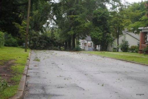 Storm damage in Halifax County