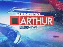 Hurricane Arthur makes landfall