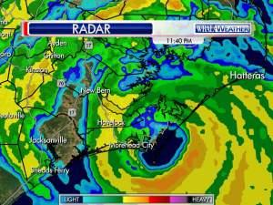 Radar: Arthur makes landfall in Morehead City