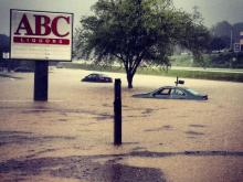 Heavy rains flooded Durham streets on Monday.