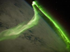 Aurora as seen from the International Space Station (Credit: NASA/JSC)