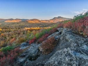 Monday, Oct. 20, 2014 -- Views of Grandfather Mountain from the Flat Rock Trail off the Blue Ridge Parkway prove that fall color is not ready to disappear just yet. (Photo by Skip Sickler)