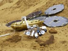 Planned full deployment of Beagle 2 lander ( All Rights Reserved Beagle 2)