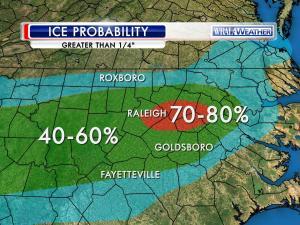 Ice accumulation forecast through Feb. 17, 2015.