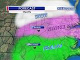 Precipitation forecast, 5 to 7 p.m., March 5, 2015