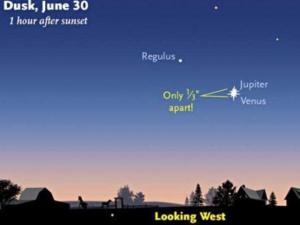 Jupiter, Venus line up this week