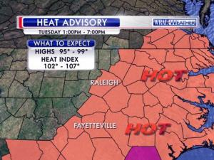 Heat advisory: July 21, 2015
