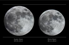 The apparent size difference between super and micro moons isn't as much as you might think(Credit: NASA APOD/Catalin Paduraru)