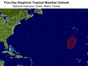National Hurricane Center: 5-day graphical outlook