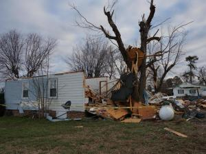 Severe storms on Wednesday tore through Oxford, hitting Huntsboro  Road especially hard.