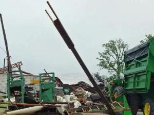 Buildings, farm, crops damaged at Triple R Farms in Youngsville.