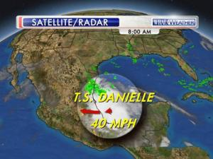 Tropical Storm Danielle forms off Mexico's eastern coast