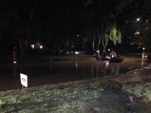 Water rescue underway at Dana Drive in Raleigh
