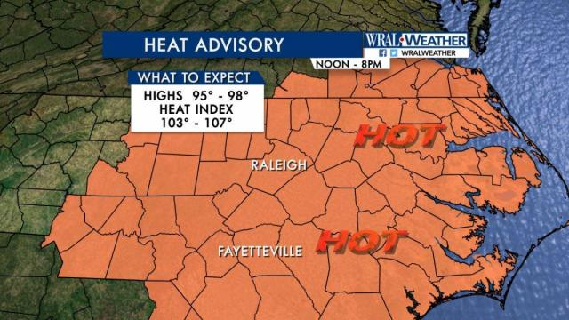 Heat advisory returns Wednesday but relief in sight