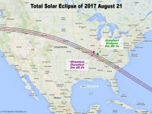 This photo from NASA shows the path of the 2017 Eclipse.