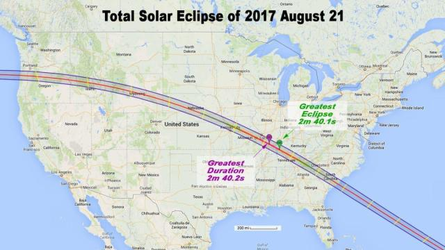Path of the 2017 Eclipse