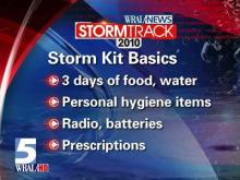 Items for your storm kit