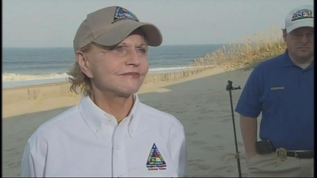 Gov. Bev Perdue after Hurricane Irene