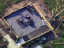 Sky 5: Irene damage in Columbia
