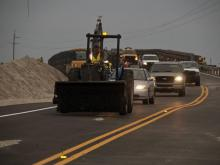 Six weeks after Hurricane Irene cut new inlets along N.C. Highway 12 in the Outer Banks, the state Department of Tranportation opened a new bridge restoring the connection to the mainland.