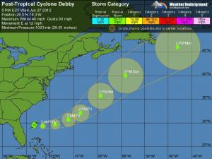 Debby Tracking - 5 Day