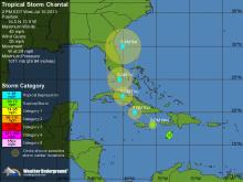 Chantal Tracking - 5 Day