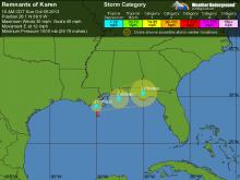 Tropical Storm Karen, which formed Thursday morning in the Gulf of Mexico, could bring rainfall to central North Carolina next week, according to WRAL meteorologists.