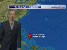 Cristobal's forecast path