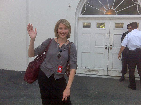 Kelcey Carlson at the White House (photo from Twitter)