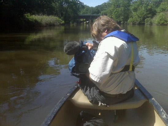 Yeah... I'm getting paid for this... Canoeing the Neuse...