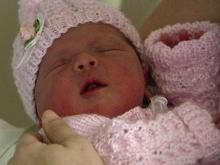 Sloane Heffernan's baby girl, born on Tuesday, Dec. 7, 2010.