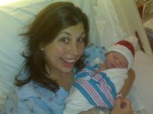 WRAL reporter Stacy Davis and her baby boy, Spencer, born Dec. 26, 2010.