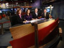 WRAL-TV debuted its renovated newsroom on Sept. 27, 2011.