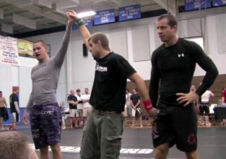 Jay Yovanovich, left, competes in Brazilian Jiu-Jitsu